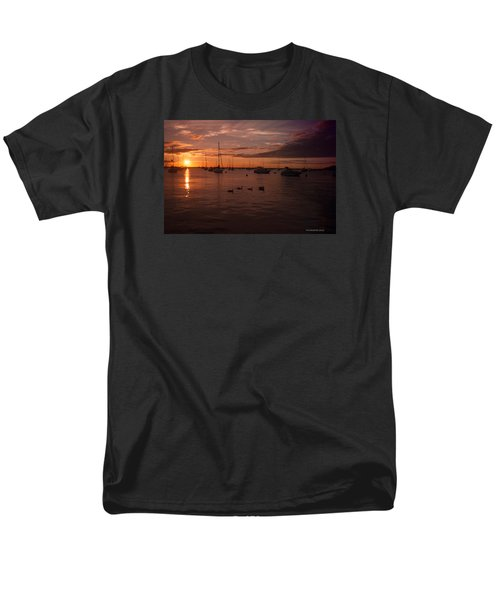 Sunrise Over Lake Michigan Men's T-Shirt  (Regular Fit) by Miguel Winterpacht