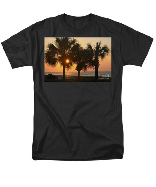 Sunrise Through The Palms Men's T-Shirt  (Regular Fit) by Kevin McCarthy
