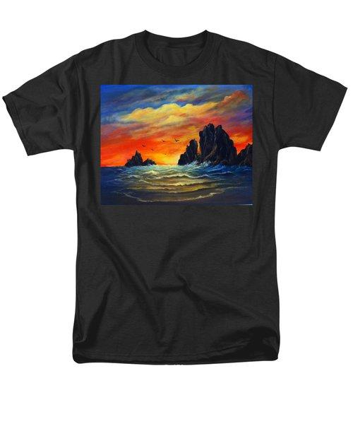 Men's T-Shirt  (Regular Fit) featuring the painting Sunset 2 by Bozena Zajaczkowska
