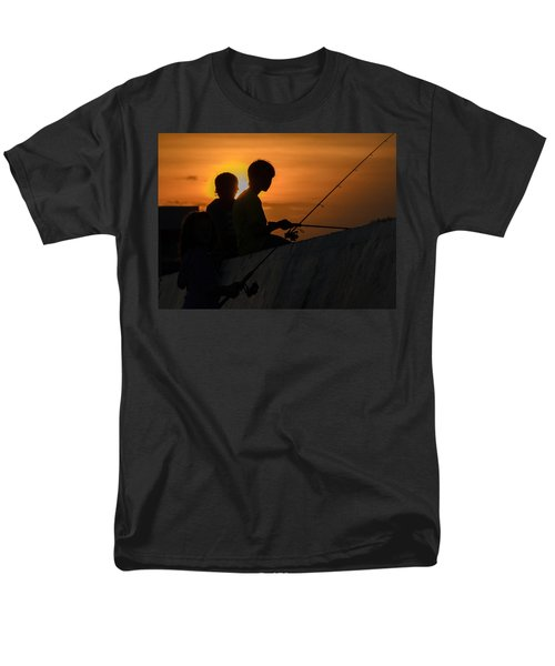 Sunset Anglers Men's T-Shirt  (Regular Fit) by Keith Armstrong