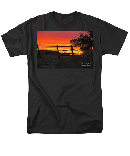 Men's T-Shirt  (Regular Fit) featuring the photograph Sunset At Bear Butte by Mary Carol Story