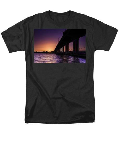 Sunset At Jensen Beach Men's T-Shirt  (Regular Fit) by Fran Gallogly