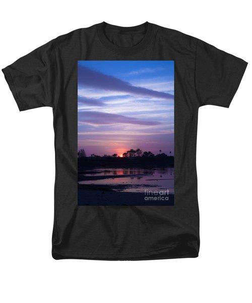 Sunset At Malibu Beach Lagoon Estuary Fine Art Photograph Print Men's T-Shirt  (Regular Fit) by Jerry Cowart