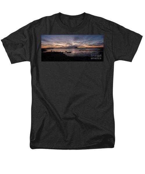 Sunset Over Lake Myvatn In Iceland Men's T-Shirt  (Regular Fit)