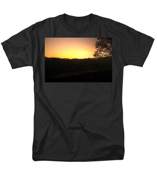 Men's T-Shirt  (Regular Fit) featuring the photograph Sunset Behind Hills by Jonny D
