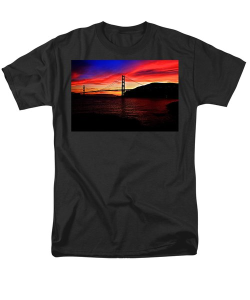 Sunset By The Bay Men's T-Shirt  (Regular Fit) by Dave Files