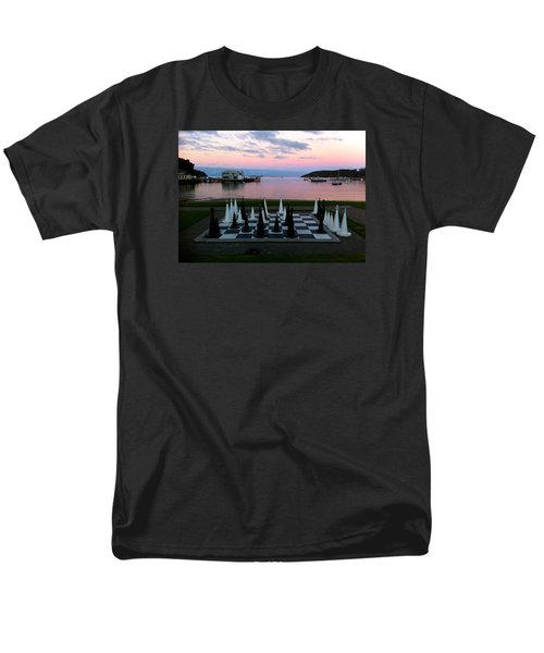 Sunset Chess At Half Moon Bay Men's T-Shirt  (Regular Fit) by Venetia Featherstone-Witty
