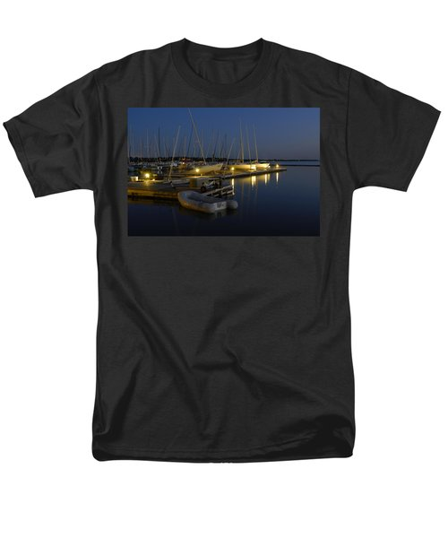 Sunset Dock Men's T-Shirt  (Regular Fit) by Charles Beeler