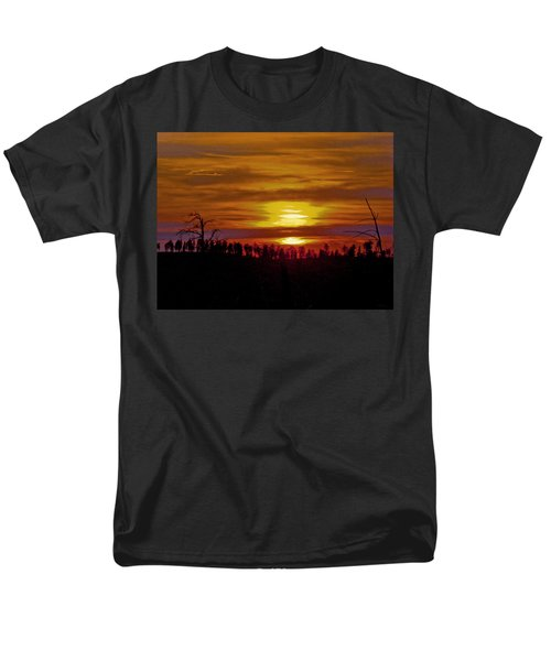 Men's T-Shirt  (Regular Fit) featuring the photograph Sunset In The Black Hills 2 by Cathy Anderson