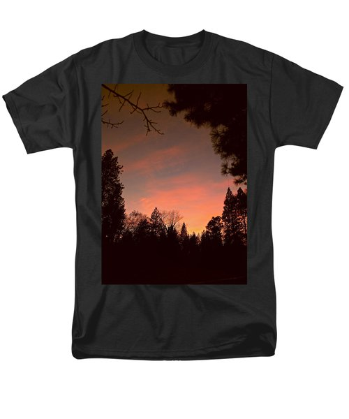 Sunset In Winter Men's T-Shirt  (Regular Fit) by Michele Myers