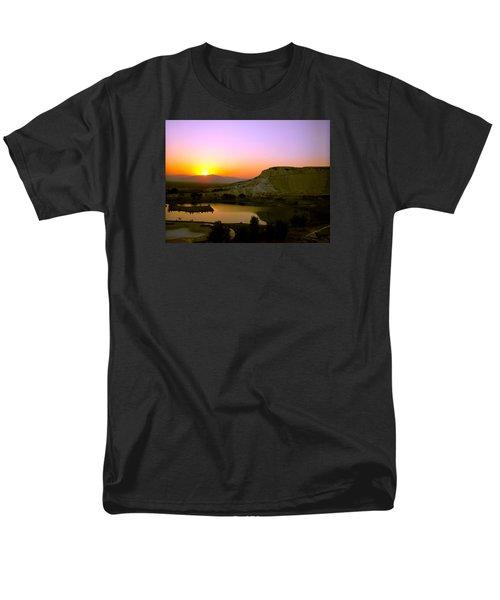Sunset On Cotton Castles Men's T-Shirt  (Regular Fit) by Zafer Gurel