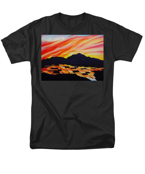 Sunset On Rice Fields Men's T-Shirt  (Regular Fit) by Michele Myers