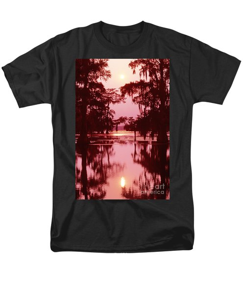 Men's T-Shirt  (Regular Fit) featuring the photograph Sunset On The Bayou Atchafalaya Basin Louisiana by Dave Welling