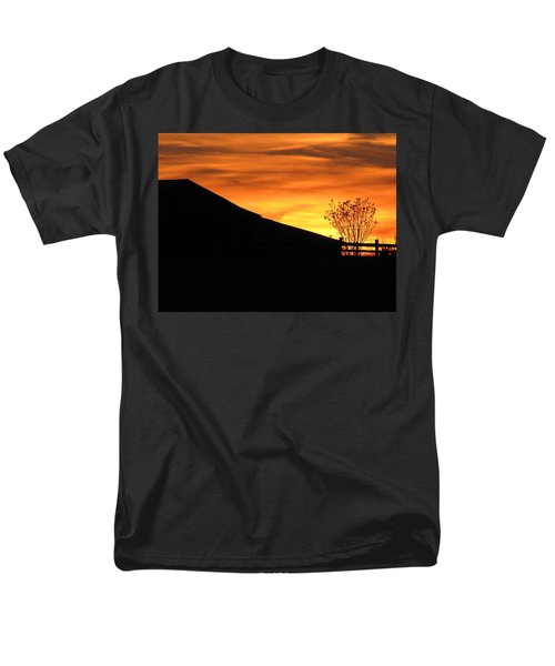 Men's T-Shirt  (Regular Fit) featuring the photograph Sunset On The Farm by Greg Simmons