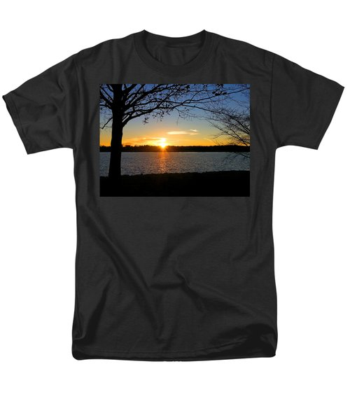 Sunset On The Potomac Men's T-Shirt  (Regular Fit) by Emmy Marie Vickers