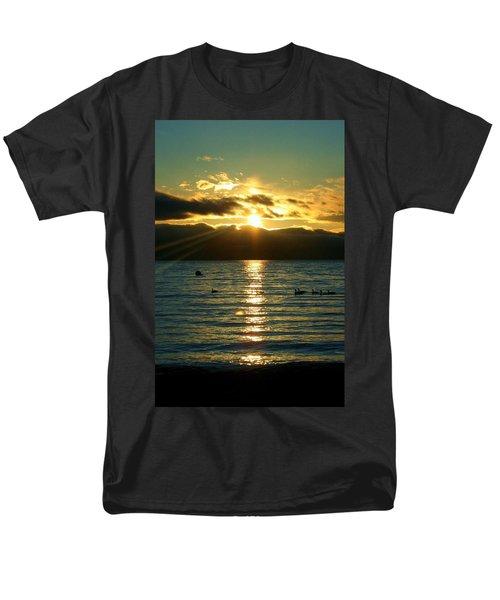 Sunset Over Lake Tahoe Men's T-Shirt  (Regular Fit) by Ellen Heaverlo