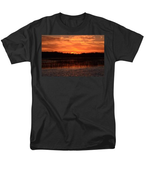 Sunset Over Tiny Marsh Men's T-Shirt  (Regular Fit) by David Porteus