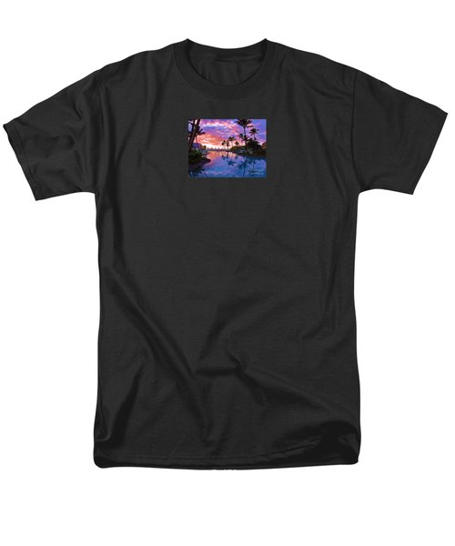 Men's T-Shirt  (Regular Fit) featuring the photograph Sunset Reflection St Regis Pool by Michele Penner
