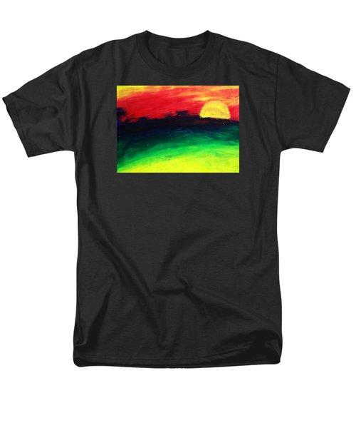 Men's T-Shirt  (Regular Fit) featuring the painting Sunset by Salman Ravish