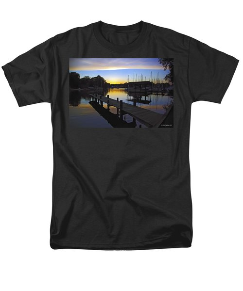 Men's T-Shirt  (Regular Fit) featuring the photograph Sunset Silhouette by Brian Wallace