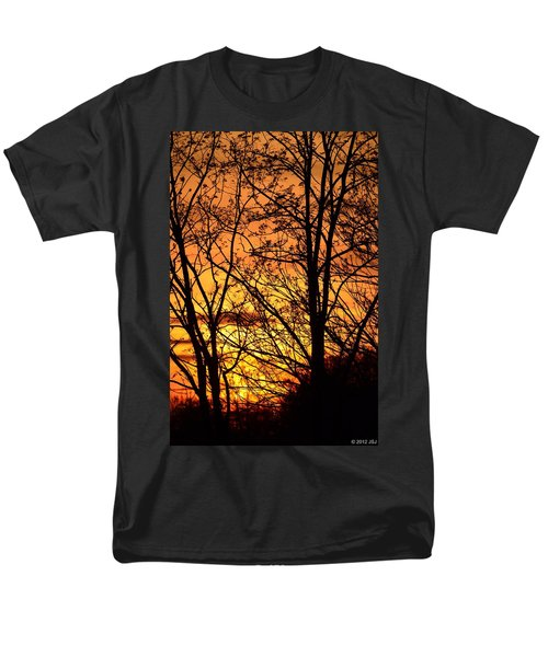 Sunset Silhouettes Behind The George Washington Masonic Memorial Men's T-Shirt  (Regular Fit) by Jeff at JSJ Photography