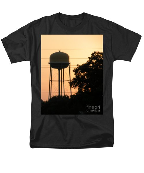 Men's T-Shirt  (Regular Fit) featuring the photograph Sunset Water Tower by Joseph Baril