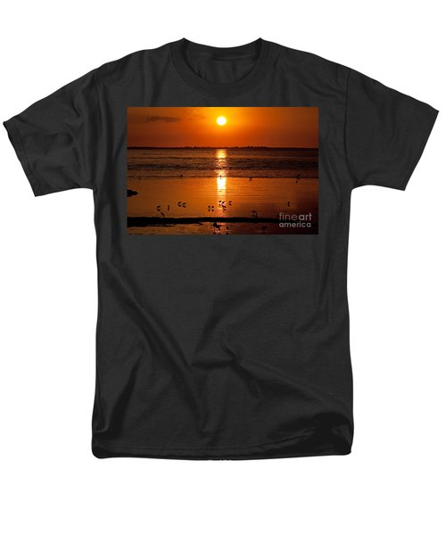 Men's T-Shirt  (Regular Fit) featuring the photograph Sunset With The Birds Photo by Meg Rousher