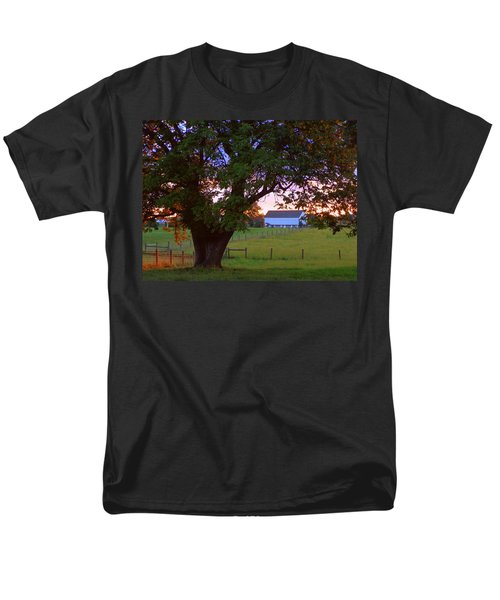 Sunset With Tree Men's T-Shirt  (Regular Fit) by Joseph Skompski