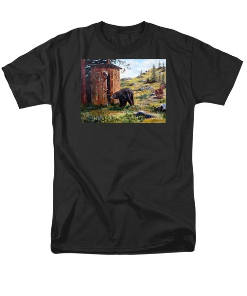 Men's T-Shirt  (Regular Fit) featuring the painting Surprise Visit by Lee Piper