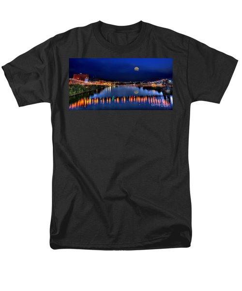 Suspension Bridge Wheeling Wv Panoramic Men's T-Shirt  (Regular Fit) by Dan Friend