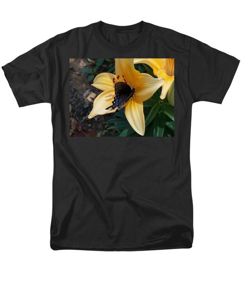 Men's T-Shirt  (Regular Fit) featuring the photograph Swallowtail On Asiatic Lily by Kathryn Meyer