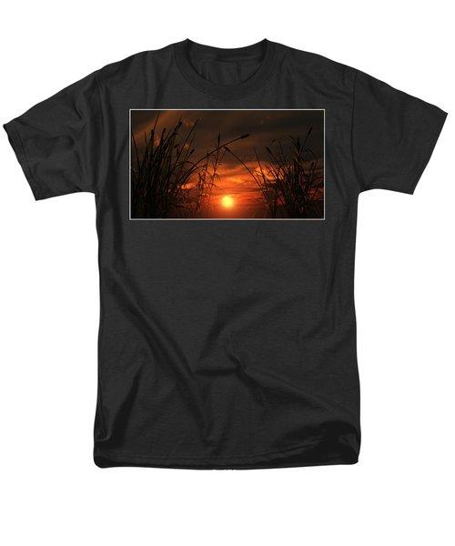 Men's T-Shirt  (Regular Fit) featuring the digital art Swamp Sunset  by Tim Fillingim