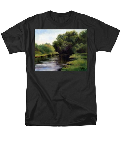 Men's T-Shirt  (Regular Fit) featuring the painting Swan Creek by Janet King