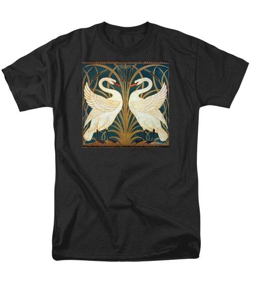 Swan Rush And Iris Men's T-Shirt  (Regular Fit) by Walter Crane