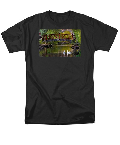 Men's T-Shirt  (Regular Fit) featuring the photograph Swans At Caughlin Ranch II by Janis Knight