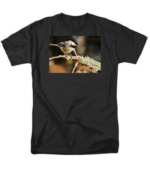 Sweet Little Chickadee Men's T-Shirt  (Regular Fit) by VLee Watson