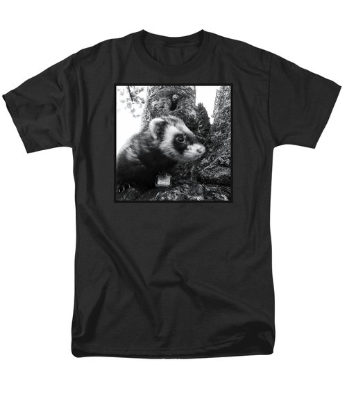 Sweet Little Nicky Chillin In A Tree Men's T-Shirt  (Regular Fit) by Anna Porter