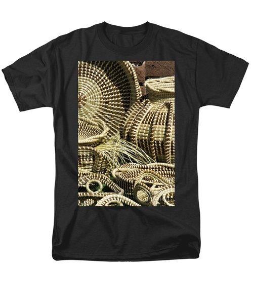 Sweetgrass Baskets - D002362 Men's T-Shirt  (Regular Fit) by Daniel Dempster