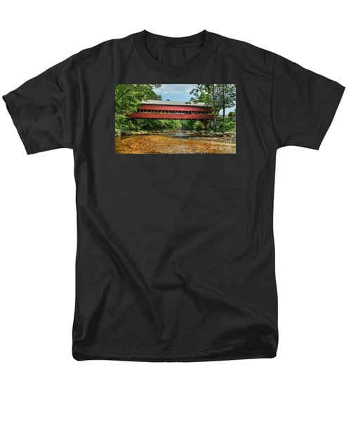 Men's T-Shirt  (Regular Fit) featuring the photograph Swift River Covered Bridge Hew Hampshire by Debbie Green
