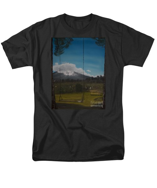 Men's T-Shirt  (Regular Fit) featuring the painting Swing On Mt Hoods Fruit Loop by Ian Donley