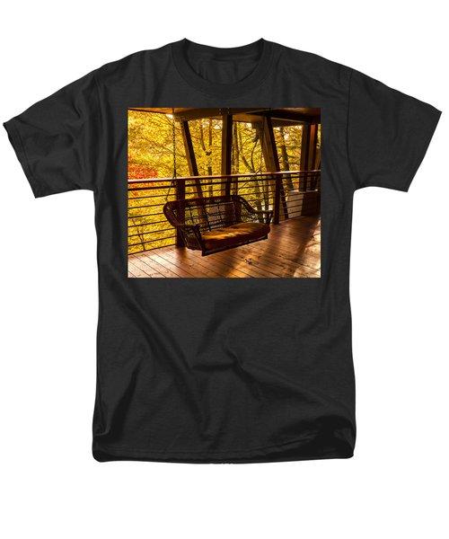 Swinging In Autumn Trees Original Photograph Men's T-Shirt  (Regular Fit) by Jerry Cowart