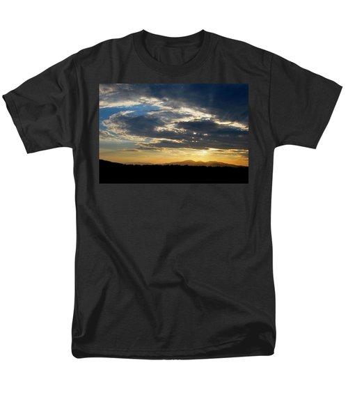 Swirl Sky Landscape Men's T-Shirt  (Regular Fit) by Matt Harang