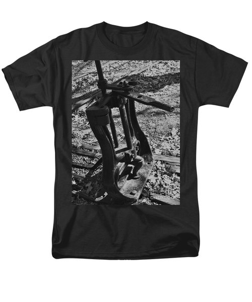 Men's T-Shirt  (Regular Fit) featuring the photograph Switching Tracks by Sara  Raber