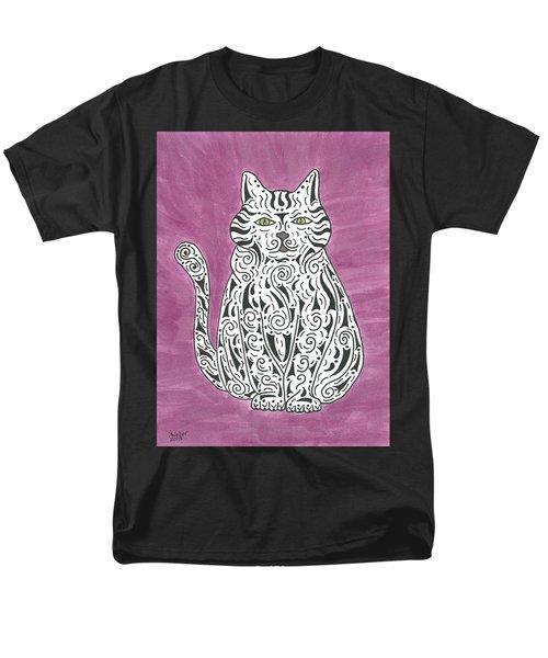 Tabby Cat Men's T-Shirt  (Regular Fit) by Susie WEBER