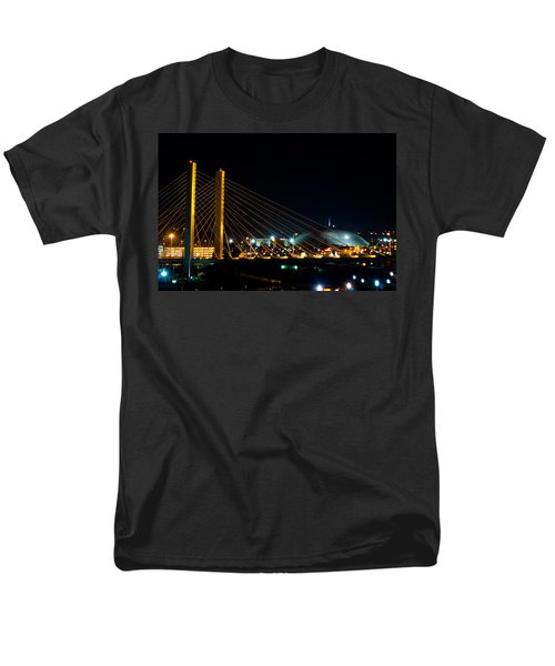 Men's T-Shirt  (Regular Fit) featuring the photograph Tacoma Dome And Bridge by Tikvah's Hope