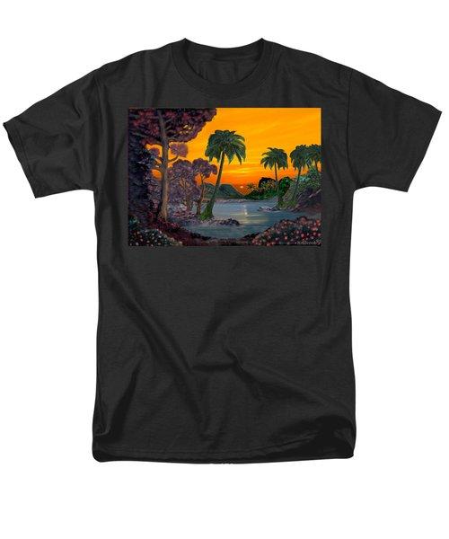 Tahitian Sunset Men's T-Shirt  (Regular Fit) by Glenn Holbrook