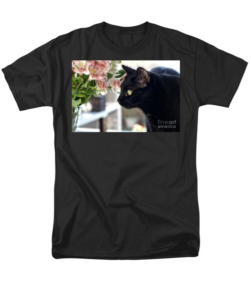 Men's T-Shirt  (Regular Fit) featuring the photograph Take Time To Smell The Flowers by Peggy Hughes