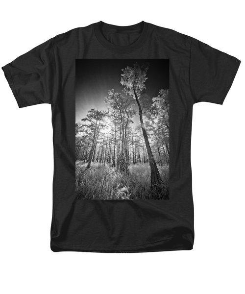 Tall Cypress Trees Men's T-Shirt  (Regular Fit) by Bradley R Youngberg