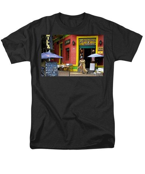 Tango Dancing In La Boca Men's T-Shirt  (Regular Fit) by David Smith