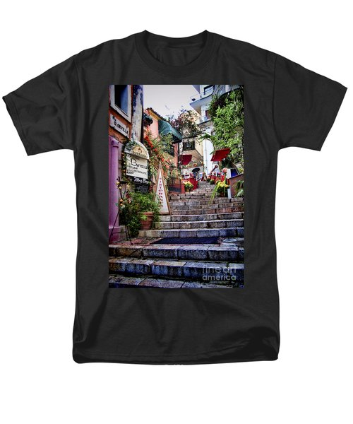Taormina Steps Sicily Men's T-Shirt  (Regular Fit) by David Smith